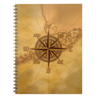 Antique Style Compass Rose Notebooks