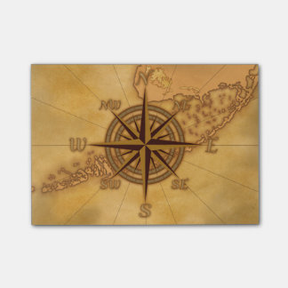 Antique Style Compass Rose Post-it Notes