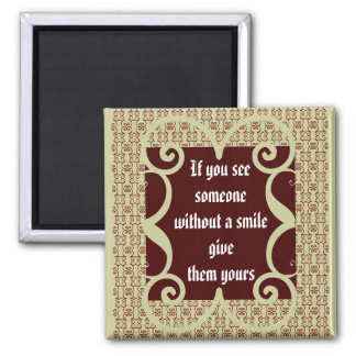 ANTIQUE STYLE SMILE MAGNET
