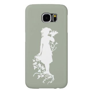 Antique Style Woman With Flowers Samsung Galaxy Samsung Galaxy S6 Cases