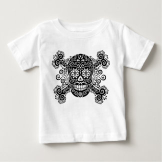 Antique Sugar Skull & Crossbones Baby T-Shirt