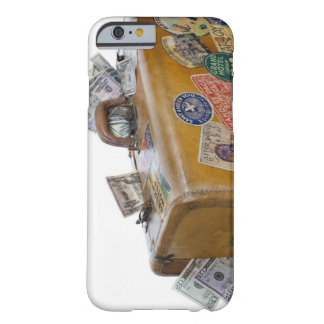 Antique suitcase with protruding money barely there iPhone 6 case