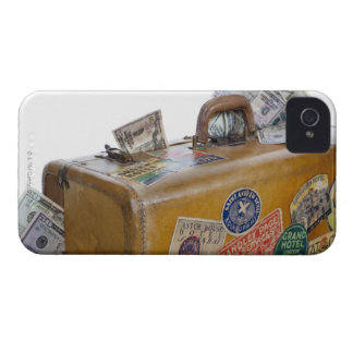 Antique suitcase with protruding money Case-Mate iPhone 4 cases