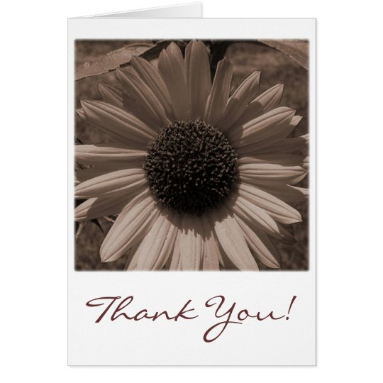 Antique Sunflower Thank You Card