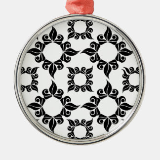 Antique Supper Image Silver-Colored Round Decoration