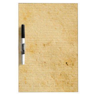 Antique Tan Paper Background Texture Design Dry Erase Board