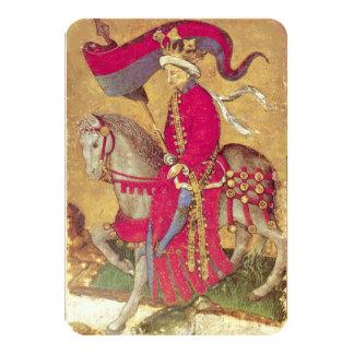 Antique Tarots /German Court Cards/King of Ducks 9 Cm X 13 Cm Invitation Card