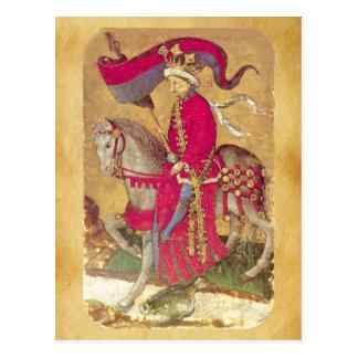 Antique Tarots /German Court Cards/King of Ducks Postcard