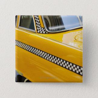 Antique Taxi 15 Cm Square Badge