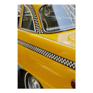 Antique Taxi Poster