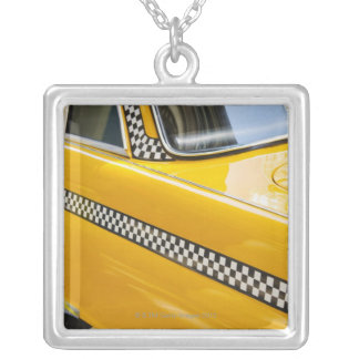 Antique Taxi Silver Plated Necklace