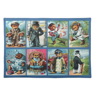 Antique Teddy Bears from 1908 Placemat
