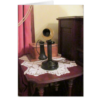 Antique Telephone Greeting Card