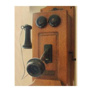 Antique Telephone Phone Wood Wall Artwork Kitchen Wood Wall Decor