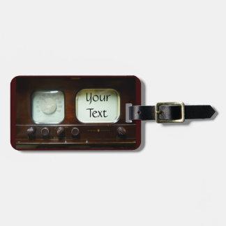 Antique Television and Radio Bag Tag