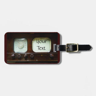 Antique Television and Radio Luggage Tag
