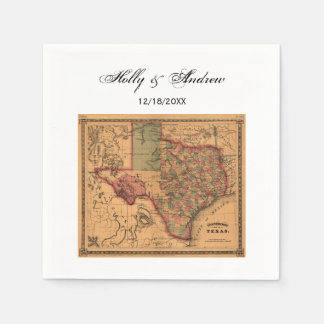 * Antique Texas Map #1 Paper Napkins