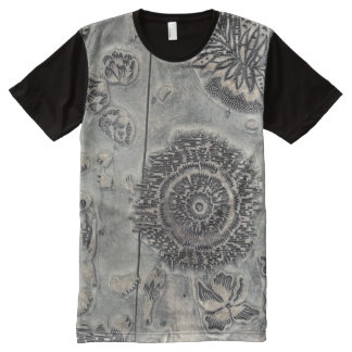 Antique Textile Printing Block. All-Over Print T-Shirt