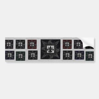 Antique Tiled Fleur de Lis (Black) Bumper Sticker