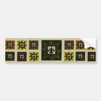 Antique Tiled Fleur de Lis (Green) Bumper Sticker