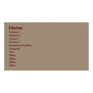Antique tiny brown circular flowers on retro pink Double-Sided standard business cards (Pack of 100)