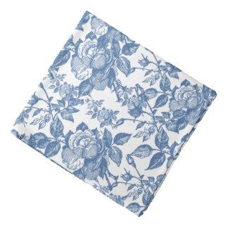 Antique Toile Blue Rose Inspired Kerchiefs