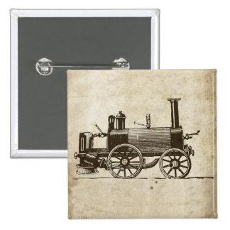 Antique Toy Steam Train 15 Cm Square Badge