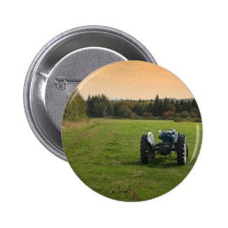 Antique Tractor 6 Cm Round Badge