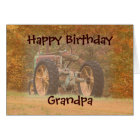 Antique Tractor- customise any occasion Card