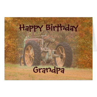 Antique Tractor- customize any occasion Greeting Card