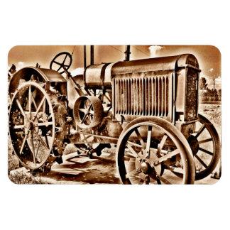 Antique Tractor Farm Equipment Classic Sepia Rectangular Photo Magnet