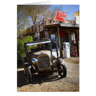Antique truck at general store in the American Card