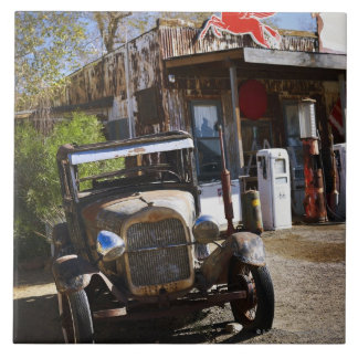 Antique truck at general store in the American Large Square Tile
