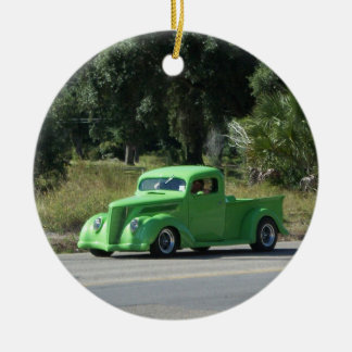 Antique truck christmas ornament