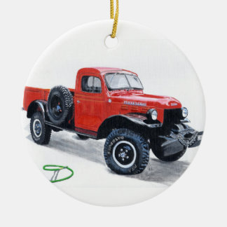 Antique Truck Power Wagon Christmas Ornament