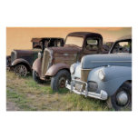 Antique Trucks and Cars Poster