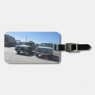 Antique Trucks Luggage Tag