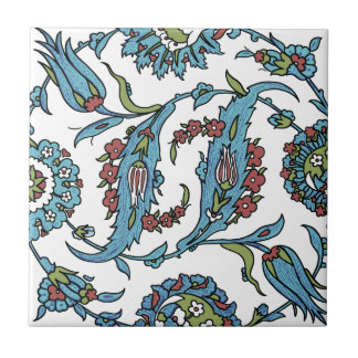 Antique Turkish Floral Composision Ceramic Tiles