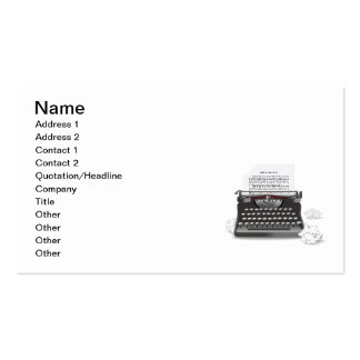 Antique Typewriter Pack Of Standard Business Cards