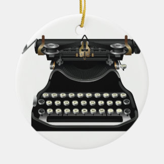 Antique Typewriter Christmas Ornament