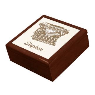 Antique Typewriter Large Square Gift Box