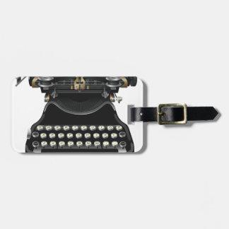 Antique Typewriter Luggage Tag