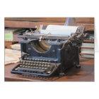 Antique Typewriter Notecard