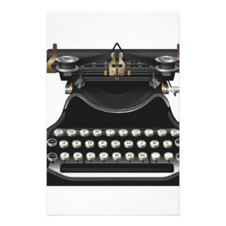 Antique Typewriter Stationery