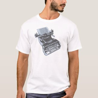 Adults Antique Typewriter T-shirt for Men or Women