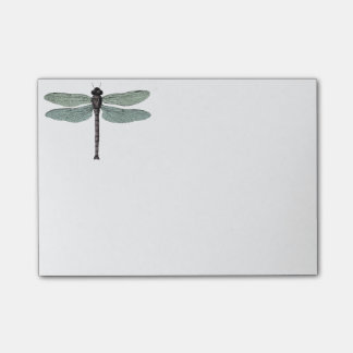 antique typographic vintage dragonfly post-it notes