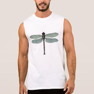 antique typographic vintage dragonfly sleeveless shirt