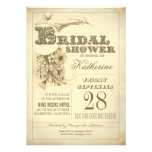 antique typography bridal shower invitations