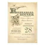 antique typography rehearsal dinner invitations