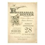 antique typography rehearsal dinner invitations
